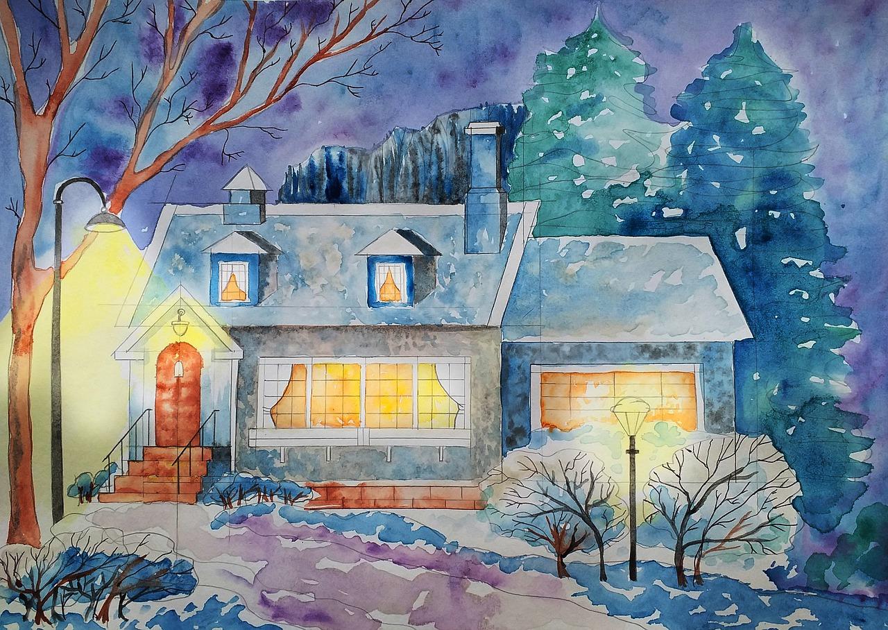 Domek v zimě
